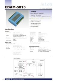 EDAM-5015 RS-485/ethernet/USB 12-ch analog input 温度RTD I/O监控模块