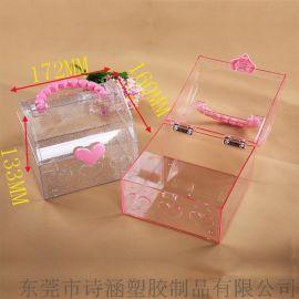 高透明塑料手提盒 精美时尚 化妆品收纳盒 东莞生产厂家直销