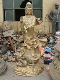 树林铜雕 ,纯铜铸造滴水观音佛像