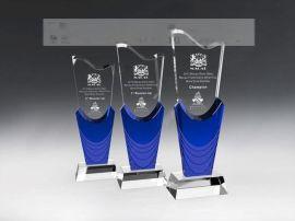 天津水晶奖杯奖牌定做,年度  员工水晶奖杯制作