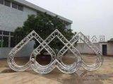 飞羽铝合金桁架心型桁架五角星桁架菱形桁架 3米心型桁架 5套 3000元/套