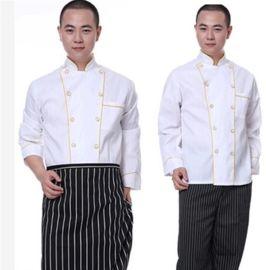 春季薄款餐饮酒店餐厅饭店中西餐厅厨师服装长袖厨师工作服上衣