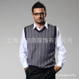 男士v领背心 100%纯羊绒 柔软舒适 大气 商务男士热销背心厂家
