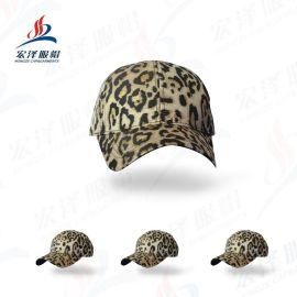 2019新款欧美外贸豹纹棒球帽 后开口马尾帽女士太阳帽鸭舌帽