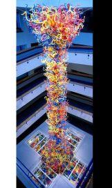 定制吹制艺术玻璃吊灯 玻璃雕塑