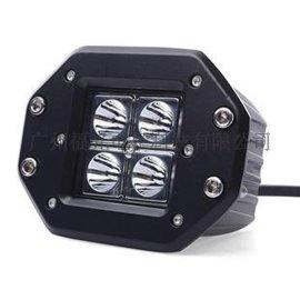 16W越野车射灯 方边LED工作灯 越野车加装聚光汽车照明灯
