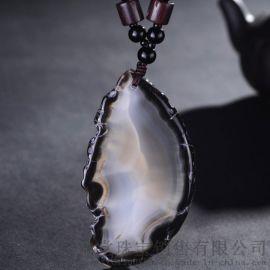 五皇一后珠宝黑色玛瑙五行能量石
