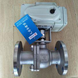 电动不锈钢法兰球阀 Q941F-16P不锈钢电动球阀