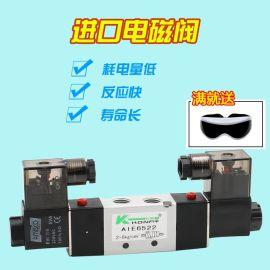 科蕾拓 气动电磁阀 PT1/4AIE6522二位五通先导式电磁阀 气动元件