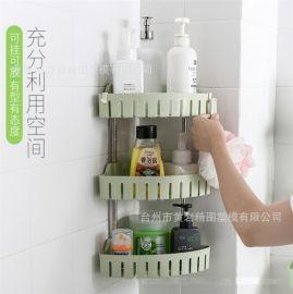 三角置物架浴室厨房墙角挂壁置物架优质多功能不锈钢收纳整理架