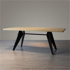 永斌北欧餐桌 简约长桌咖啡桌实木餐桌办公桌会议桌