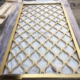 高端古铜不锈钢屏风 酒店大堂不锈钢屏风定制