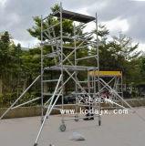 空达铝合金4米移动手脚架轻便铝制手脚架内爬式