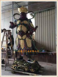 蒼南玻璃鋼佛像生產廠家,樹脂四大天王佛像廠家