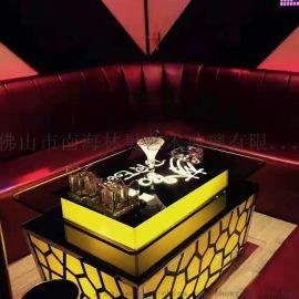 KTV发光茶几酒吧发光LED吧台钢化玻璃不锈钢桌子