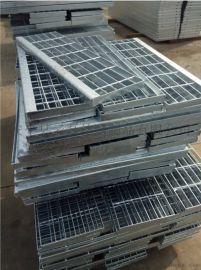 镀锌踏步板_扁钢格栅踏步板_楼梯踏步板生产厂家
