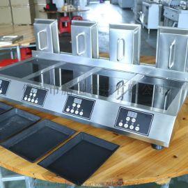 顺德膳达智能自动煎饺子机商用生煎包机铸铁锅贴机