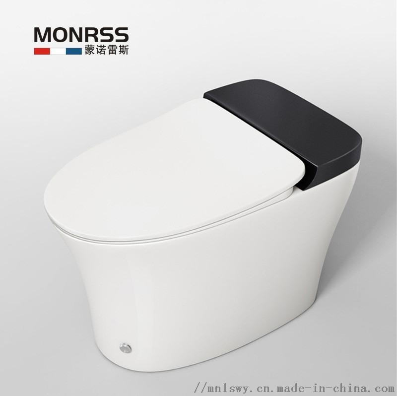 蒙诺雷斯无水箱脉冲坐便器 虹吸式大管道马桶 低水箱