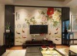 佛山彩雕背景牆廠家個性定制彩虹石品牌客廳電視背景牆瓷磚 富貴有餘 陶瓷藝術壁畫