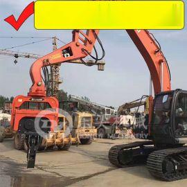 挖掘机打钢板桩机 打拔拉森钢板桩 打桩锤厂