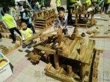 幼兒園構建積木/大型戶外炭燒積木