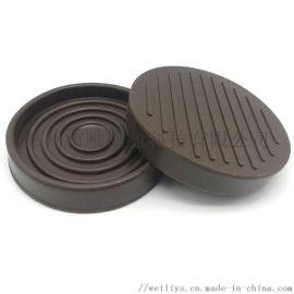 橡胶脚轮垫杯椅子桌脚套地板家具蓖麻杯耐磨防滑保护垫
