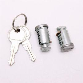 行李架锁芯 各种汽车车顶行李架专用锁芯 铜钥匙打标logo锁芯