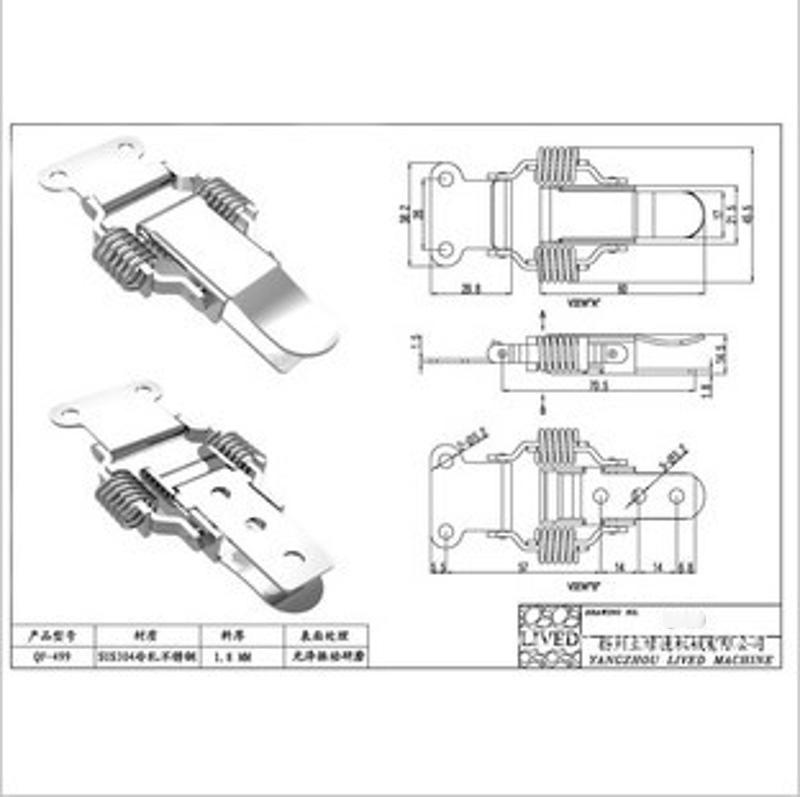 l供应多种型号的 【质量保证】 不锈钢搭扣