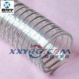 聚氨脂pu鋼絲管,耐磨耐高壓透明鋼絲增強軟管,耐真空吸料管45