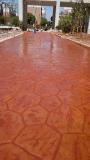 桓石地坪供應重慶彩色混凝土壓模地坪免費模版指導壓花地坪壓印道路藝術鋪裝材料