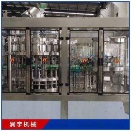 厂家热销供应铝制易拉罐装含气饮料生产线 全自动灌装机生产线