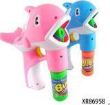 兒童玩具 新款電動實色海豚泡泡槍 帶音樂燈光 配二瓶泡泡水