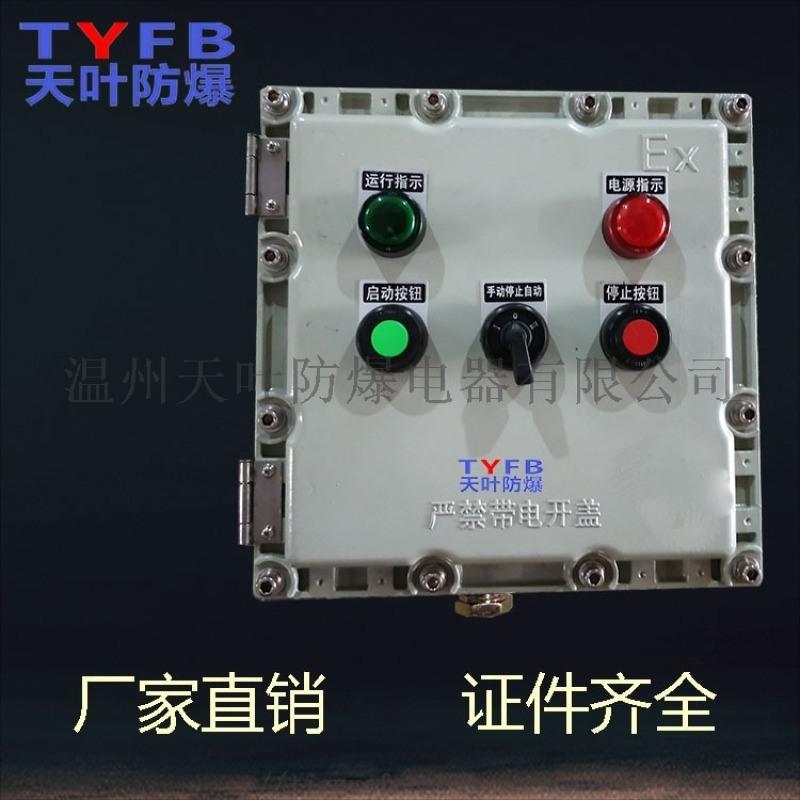 防爆按钮盒启动停止开关设备机旁防爆按钮操作箱定制