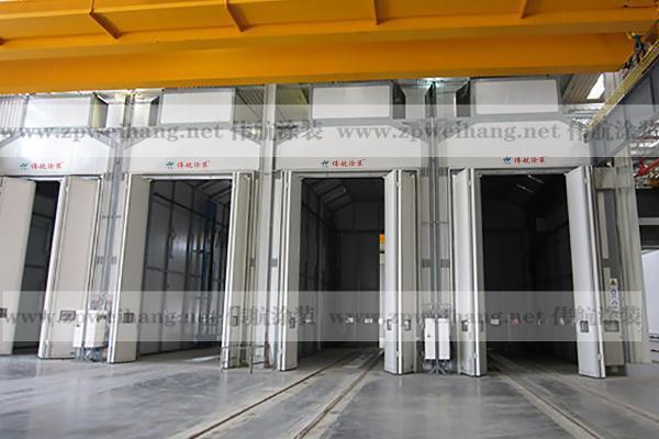 伟航大型工业喷漆房 风电叶片喷涂 公交车喷烤漆房