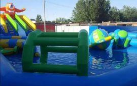 夏季**的投资项目 水上乐园充气设施 跷跷板