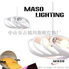 MASO灯饰螃蟹壳树脂创意现代餐厅吊灯三头E27可替换光源CE认证MS-P1025