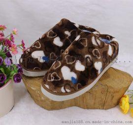 时尚亮色男女居家拖鞋秋冬款半包跟加厚海棉牛筋底防滑拖鞋