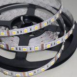 5050LED燈帶 12V高亮LED軟燈條 防水燈帶 60燈/米 暖白+正白