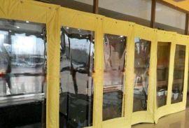 谢人门帘 PVC透明软门帘 大视窗棉门帘 透明软玻璃