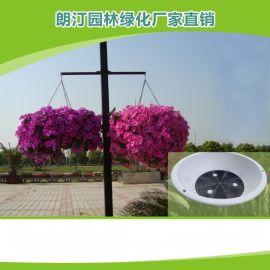 立体垂直灯杆绿化吊盆PP原料蓄水园艺圆形花盆