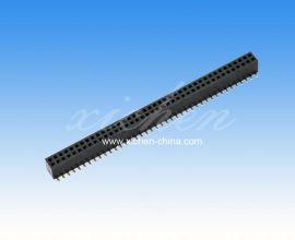 1.27mm间距机顶盒插针插座排母 双排SMT 塑**=3.4mm