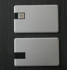 金属卡片式usb 名片u盘 超薄礼品 防水 防摔 个性usb
