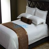 酒店 床尾巾 批发   装饰面料床尾垫 咖啡色床旗 厂家直销