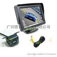 4.3寸带挡阳车载显示器  倒车后视系统 170度车载摄像头