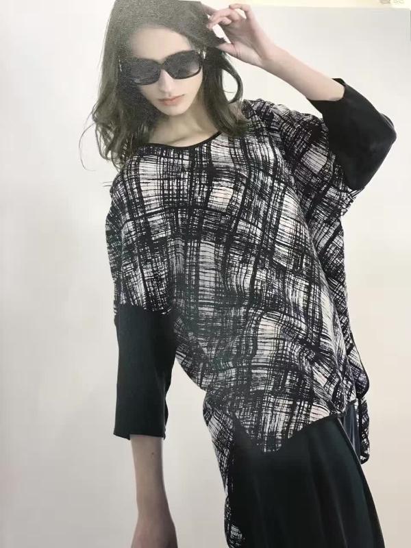 莫名 17春夏丝麻真丝面料 上海女装批发专柜  品牌折扣尾货走份
