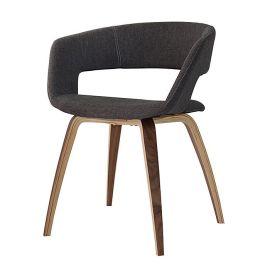 厂家直销实木布艺餐椅休闲椅子