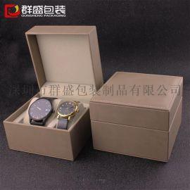韩国市场**包装盒 情侣对表盒 双表包装盒子 PU仿皮革盒