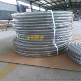 耐高温PU透明钢丝管食品级钢丝软管无毒无味聚氨酯平滑管