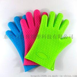 142g心形凸点硅胶防烫手套 厨房用手套 隔热手套
