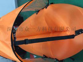 户外旅行尖头空气沙发懒人睡袋便携式带遮阳伞快速充气床定制LOGO